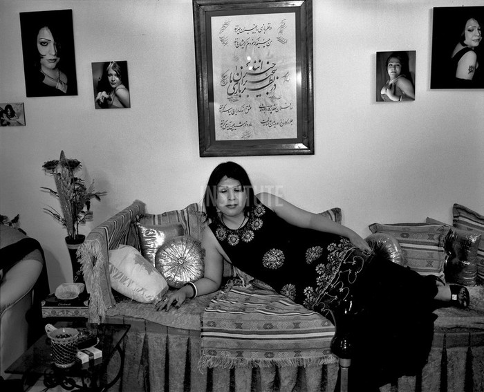 "Taraneh at home. At age 24, Laleh performed a sex change operation to become a woman: ""There was no other way"" - she says. She is working as a production designer on movie sets. Tehran, Iran. May, 2008 - Photo: Rena Effendi"